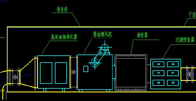 餐厅电路系统图